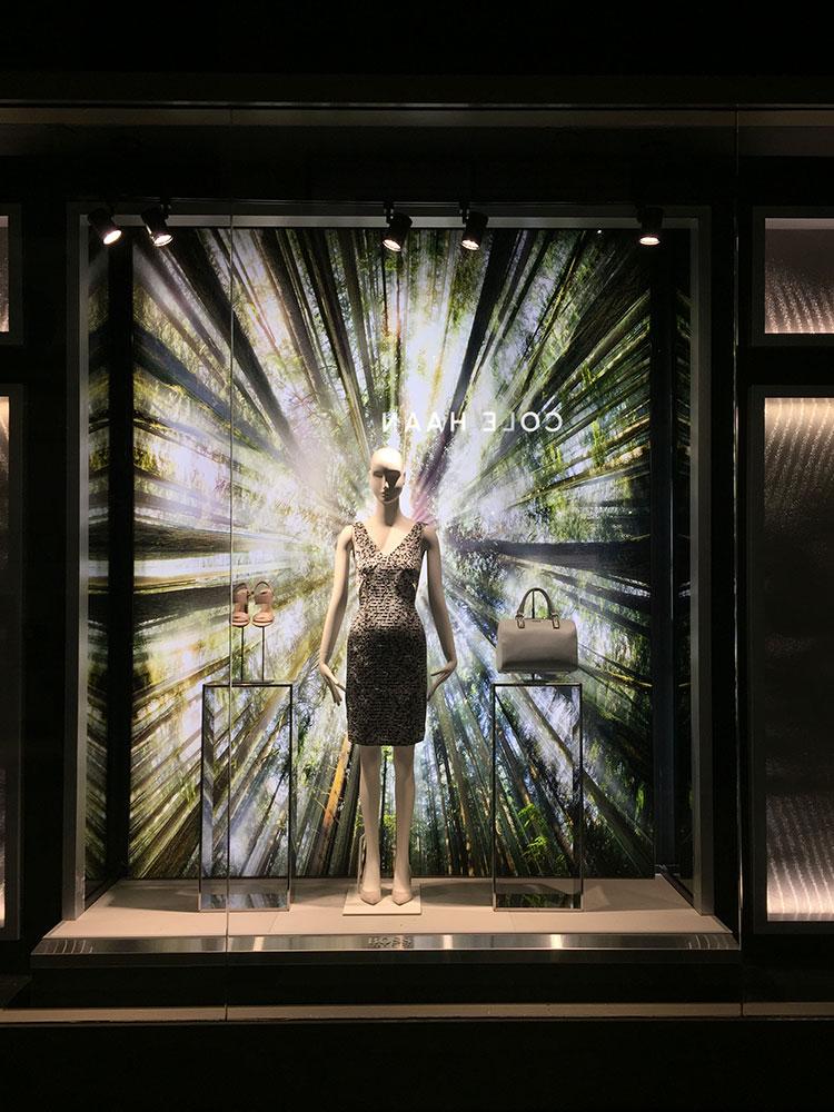 SEG Fabric Retail Store Front Window Display