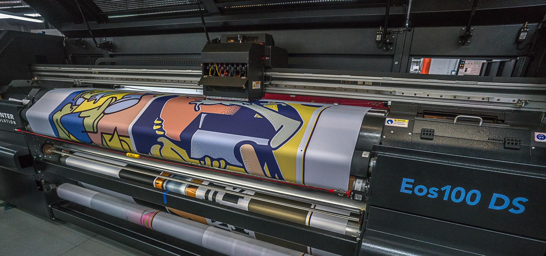 SEG fabric silicone beading signage sewing sewn edge dye sublimation printing textiles printer dye sub