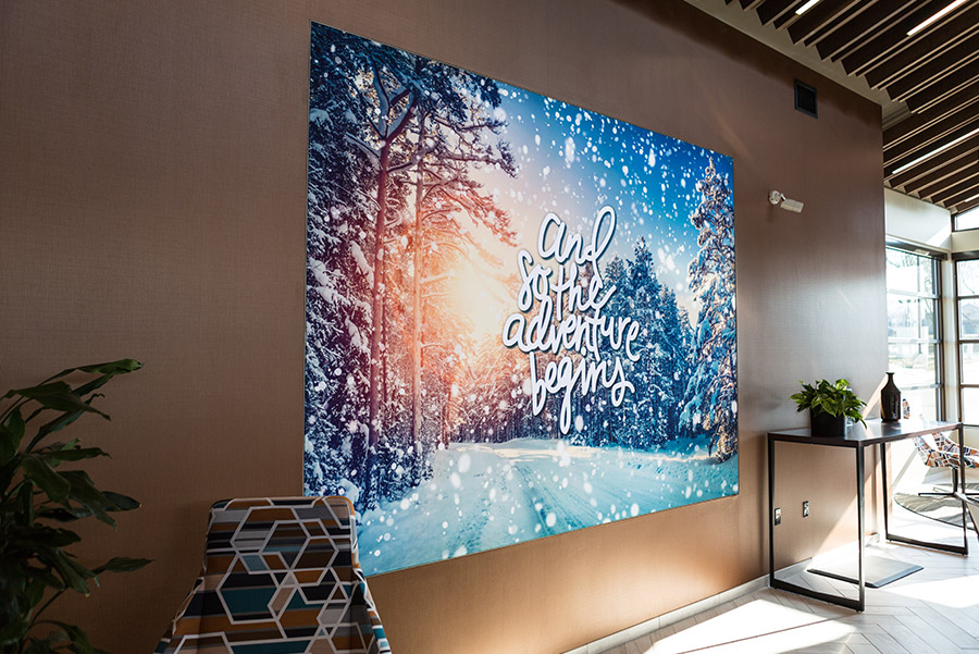 Light Box Display lightbox backlit printer printing print SEG fabric lightboxes Frameless LED Lightboxes and Backlit SEG Fabric retail display frameless lightbar fabric graphics design manufacturing soft signage silicone edge graphics tension fabric stretch signage led