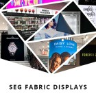 SEG fabric displays retail signage display branding retailer store environments visual merchandising brand visuals graphics graphic design advertising silicone edge graphics lightbox light box lightboxes framing system frame LED backlit non-lit window wall application printing printer print wide format marketing