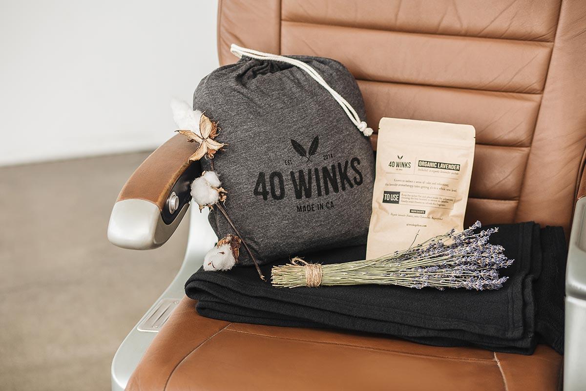 40 winks pillow lavender blanket set
