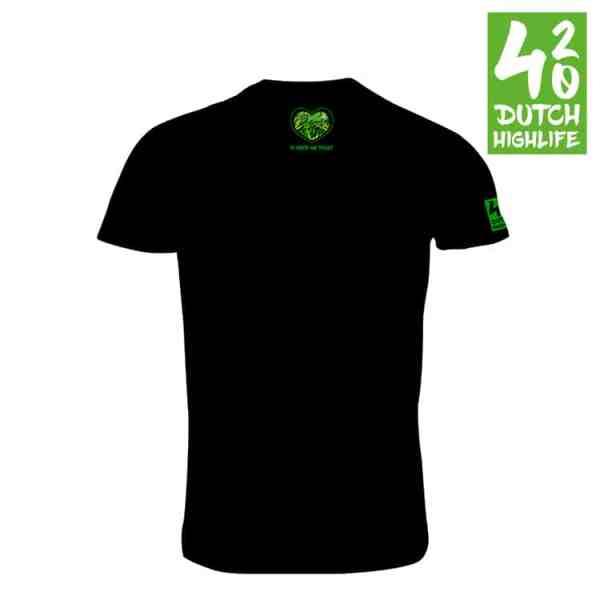 T-shirt 420 dutch highlife Heren achterkant