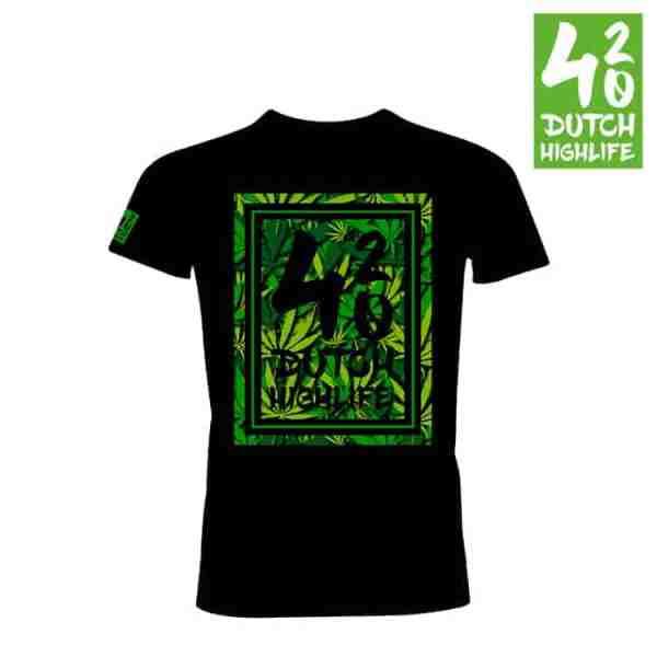 T-shirt 420 dutch highlife heren voorkant