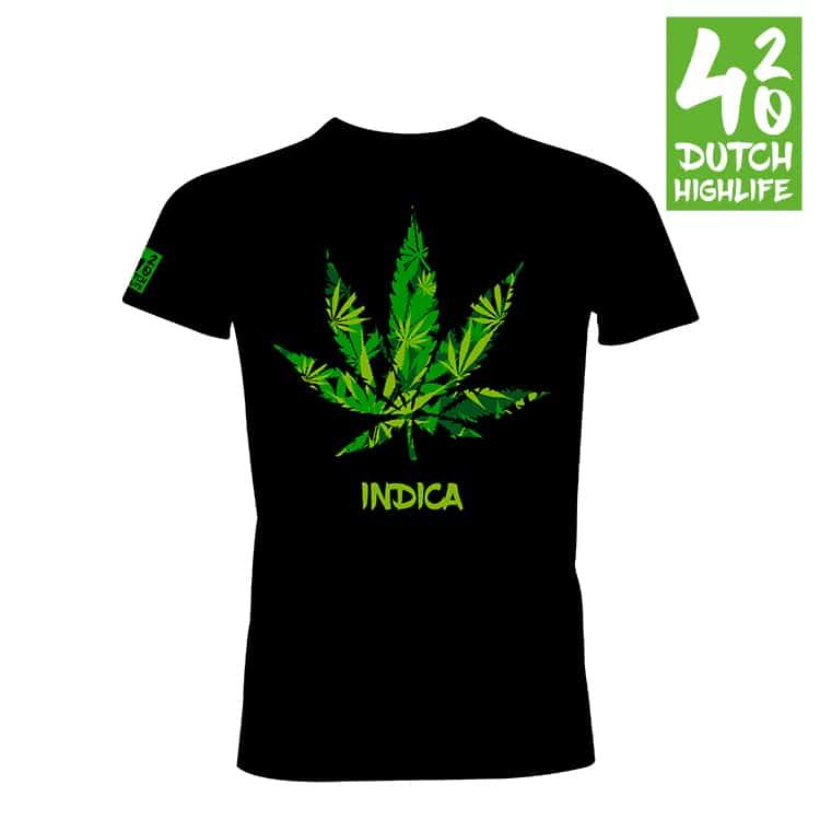 420 Dutch Highlife T-shirt Indica Heren voorkant