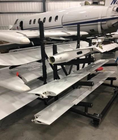 Flight Control Storage Rack In Use