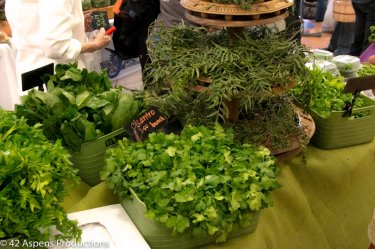 fresh herbs from the Farmers Market