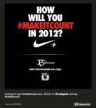 How will you #makeitcount contest door Nike