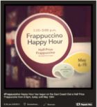 Frappuccino happy hour door Starbucks