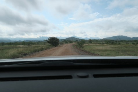 Driving into the drylands...