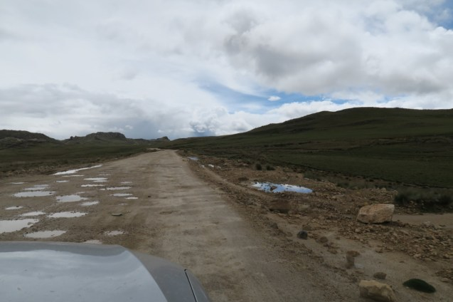 A rather nice stretch of dirt road, before it got considerably worse.