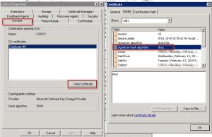 Active Directory CA Certificate