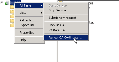 Renewing an AD certificate