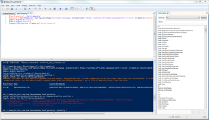 The Windows PowerShell Integrated Scripting Environment (ISE)