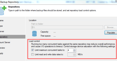 Veeam Repository Load Control