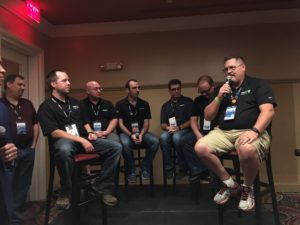 Me on a panel discussion at the Veeam User Group held in Las Vegas at VMWorld 2016
