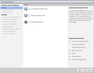 VMware Horizon 7 - Desktop Pool Types