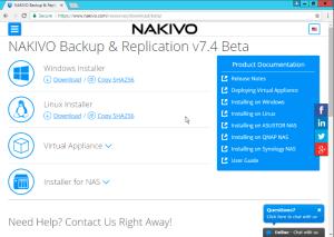 NAKIVO Download Options