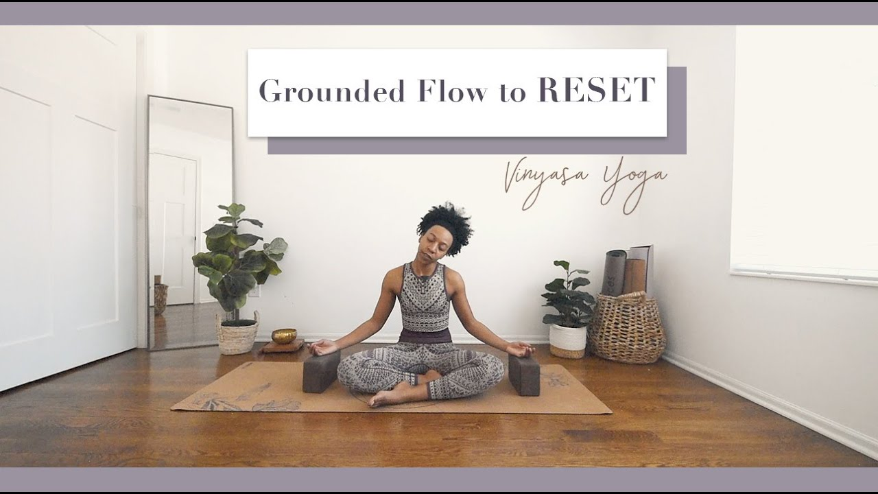 15 Min Grounded Sunday Flow to RESET for the Week  Bright and Salted Yoga