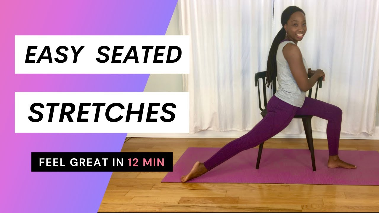 Easy Seated Stretches for Frequent Sitters