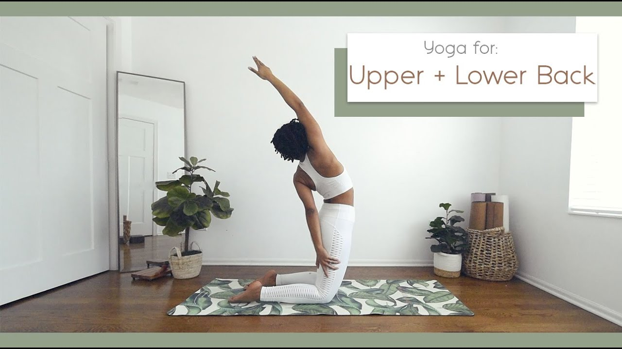 15 Min Gentle Yoga with Upper/Lower Back + Spinal Stretch