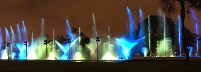 Fuente de la Fantasía in Circuito Mágico del Agua (Magic Water Circuit) Christmas in Lima Peru