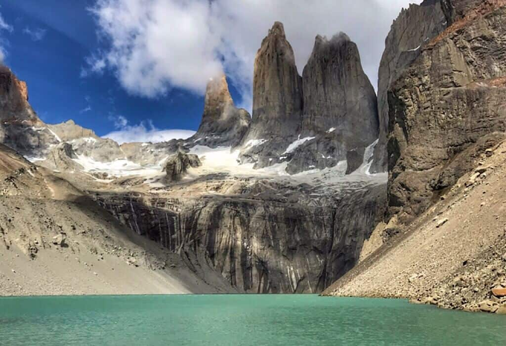 The towers of the Torres del Paine W Trek