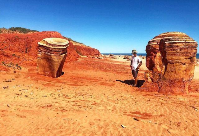 Red beach near Broome in Western Australia