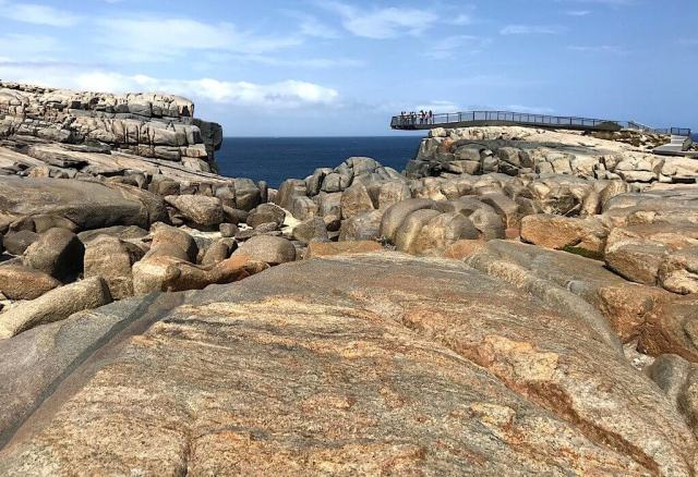 The skywalk that extends over The Gap in Torndirrup National Park