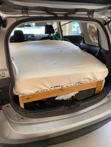 Build of bed frame and mattress for van life
