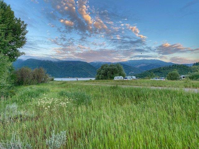Free camping in the Palisades of Idaho