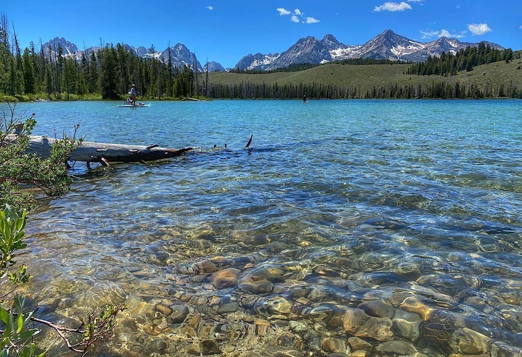 Little Redfish Lake with mountains in the background, Idaho