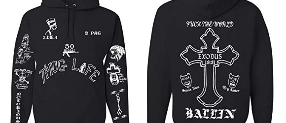 All Eyez on Me 2PAC Tattoo Unisex Tattoo Hooded Sweatshirt (Limited Edition)