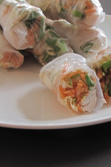 Chicken Rice paper wraps