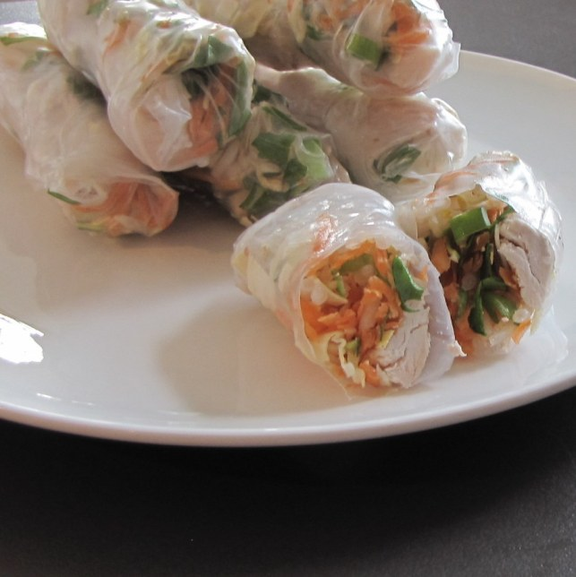 Rice paper Chicken wraps
