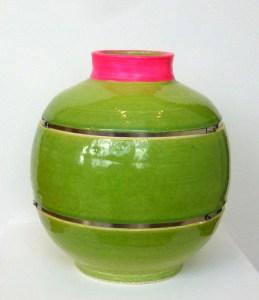 Taz Pollard lunar jar green