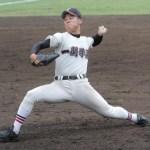 岩手の優勝候補!一関学院のエース・佐藤投手のグラブはウィルソン!