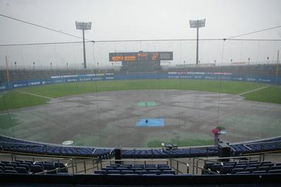 松山中央公園野球場雨天時