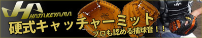 ハタケヤマ 硬式キャッチャーミット一覧!!