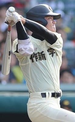 作新学院 朝山選手 SSKエルボーガード