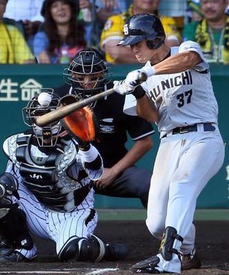 中日 三ツ俣選手 久保田スラッガー3