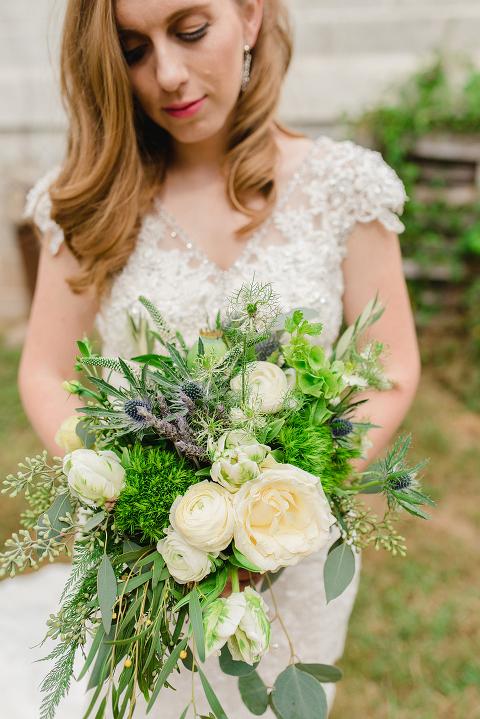Dusty Blue And Sage Green Fall Farm Wedding At 48 Fields