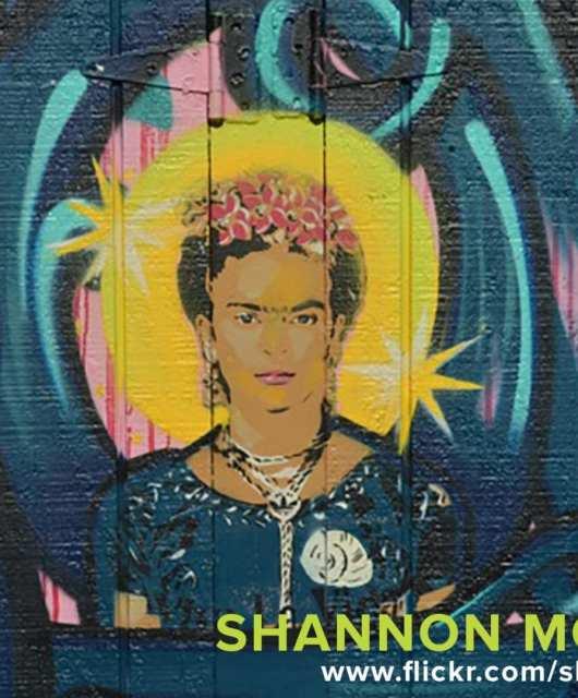 Frida Kahlo street art in San Francisco's Mission District.