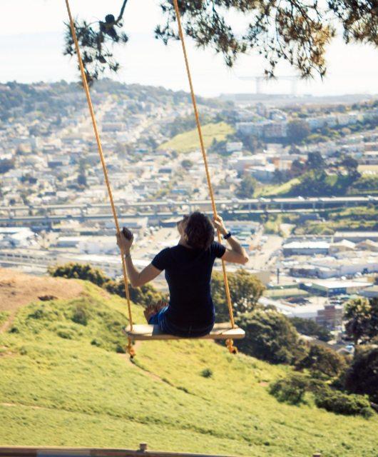 Swing atop Bernal Heights Park. Photo: Justin Wong, 49miles.com.