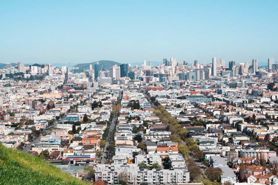View of Downtown SF from Bernal Heights. Photo: Justin Wong, 49miles.com.