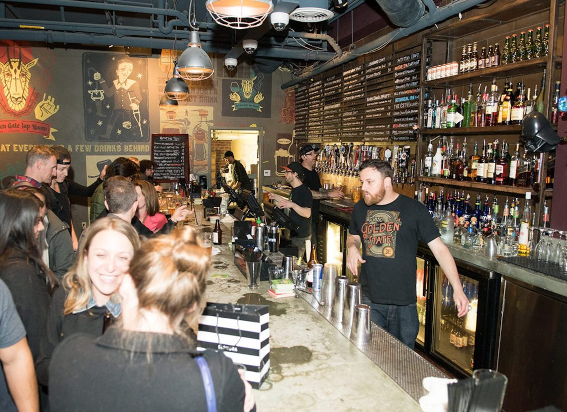 Bar on 2nd floor of Golden Gate Tap Room. Photo: Golden Gate Tap Room SF.