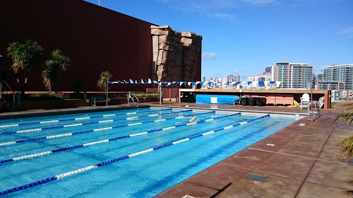 UCSF Bakar Fitness Roof Pool. Photo: Bakar Fitness Center, Facebook.