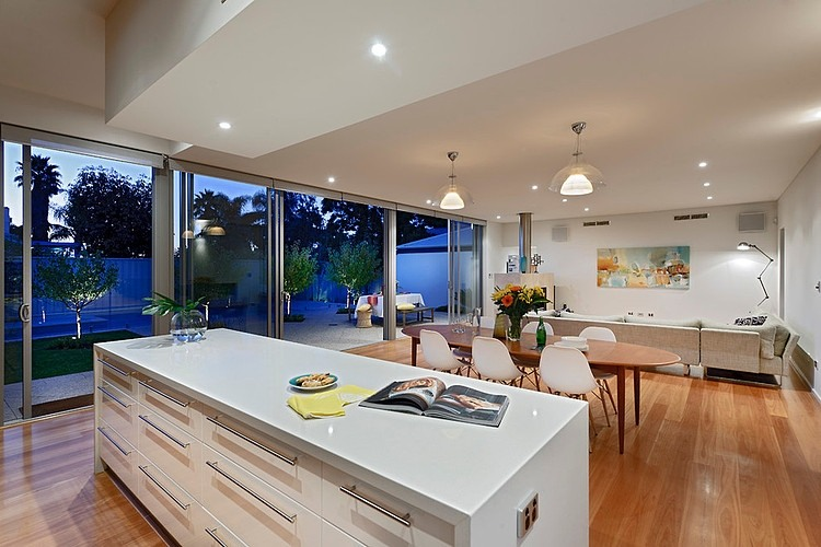 Open Floor Plan House Interior Design Located In Sunny