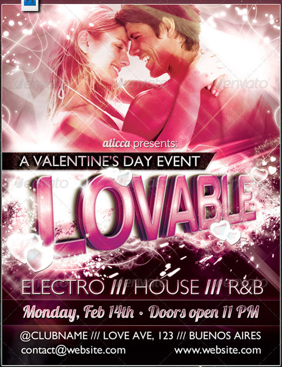 lovable valentines flyer template