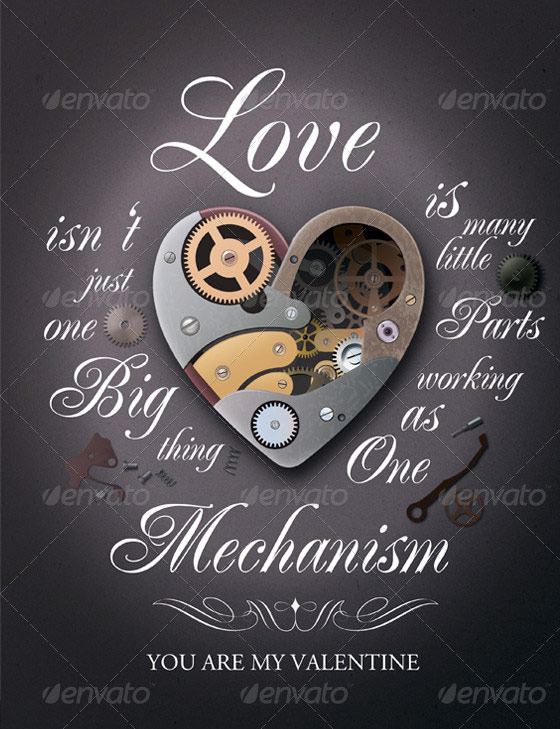 mechanism valentines flyer template