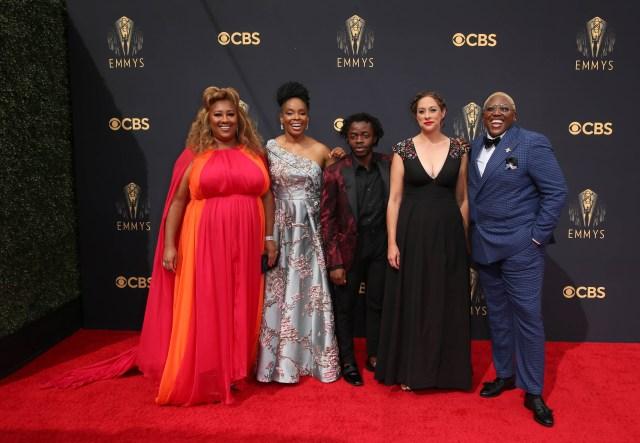 Ashley Nicole Black, Amber Ruffin, Demi Adejuyigbe, Jenny Hagel, Shantira Jackson Emmys Red Carpet 4Chion Lifestyle